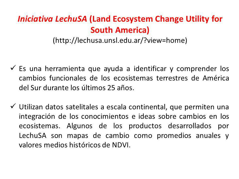 Iniciativa LechuSA (Land Ecosystem Change Utility for South America)