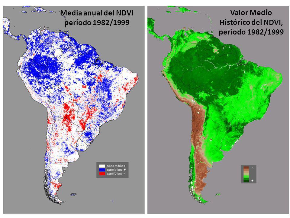 Media anual del NDVI período 1982/1999