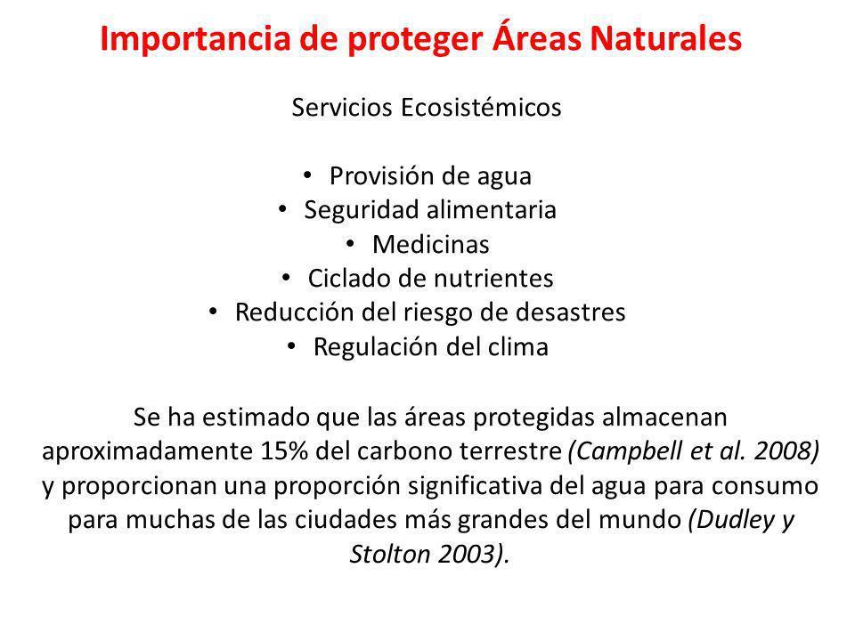 Importancia de proteger Áreas Naturales