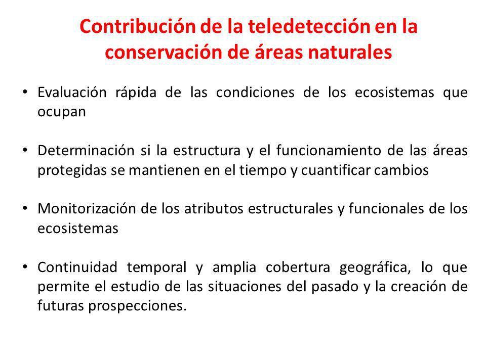 Contribución de la teledetección en la conservación de áreas naturales