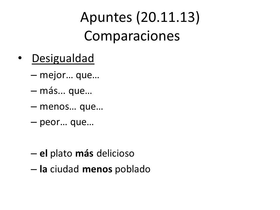 Apuntes (20.11.13) Comparaciones