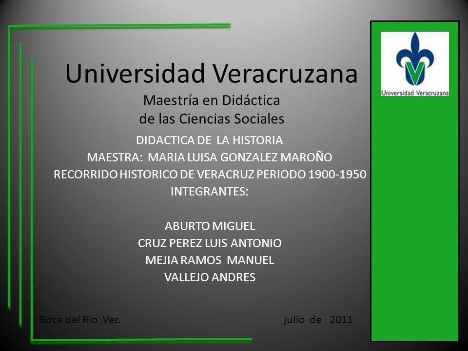 Universidad Veracruzana Maestría en Didáctica de las Ciencias Sociales