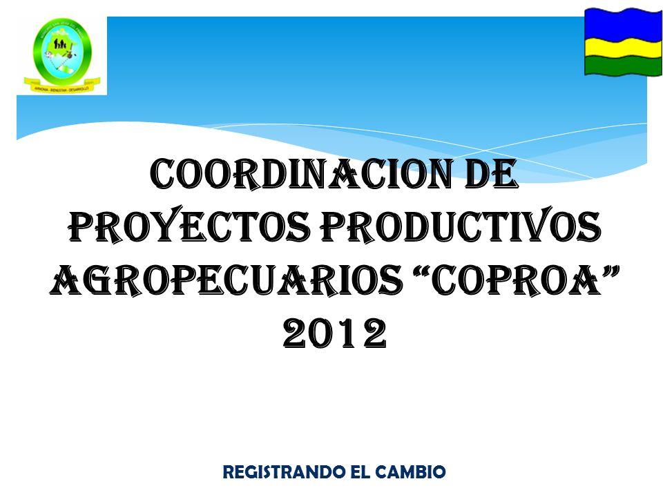 COORDINACION DE PROYECTOS PRODUCTIVOS AGROPECUARIOS COPROA 2012