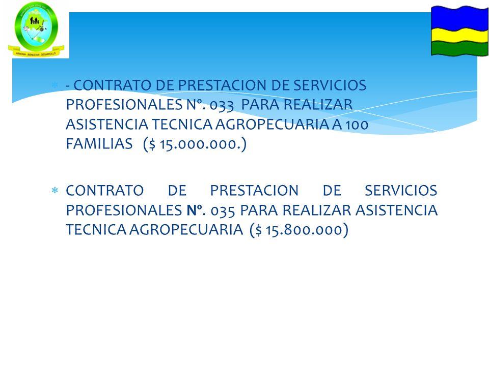 - CONTRATO DE PRESTACION DE SERVICIOS PROFESIONALES Nº