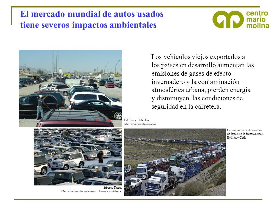 El mercado mundial de autos usados tiene severos impactos ambientales