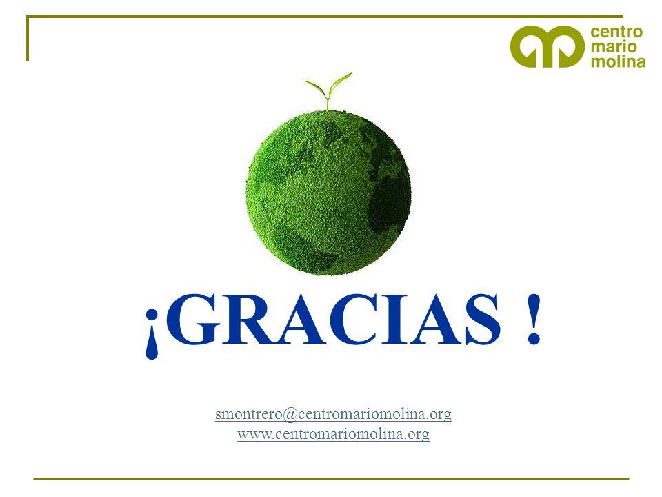¡GRACIAS ! smontrero@centromariomolina.org www.centromariomolina.org 8