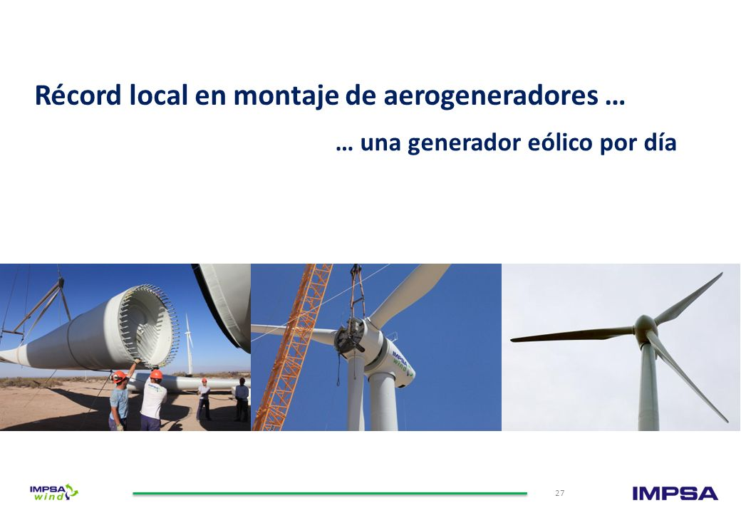Récord local en montaje de aerogeneradores …
