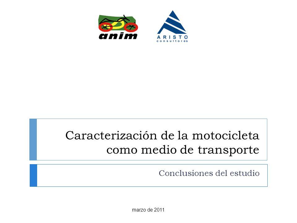 Caracterización de la motocicleta como medio de transporte