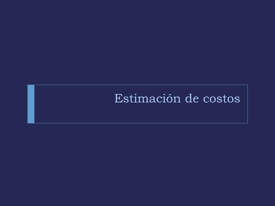 Estimación de costos
