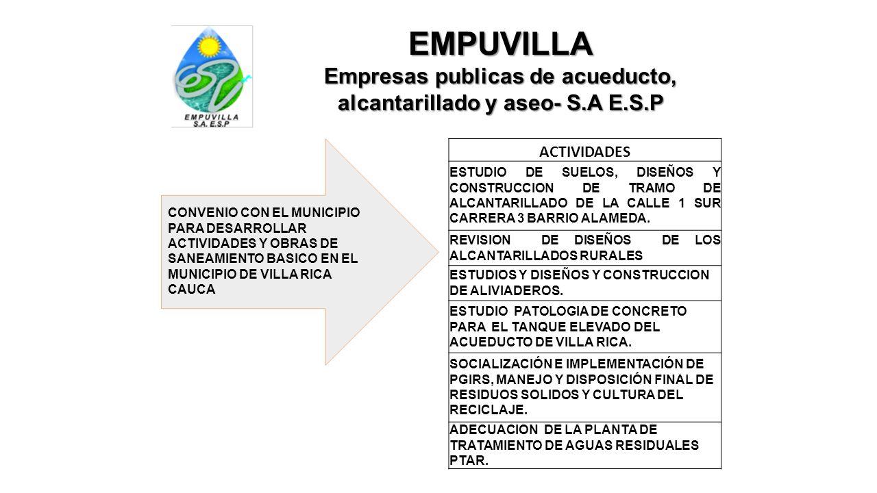 Empresas publicas de acueducto, alcantarillado y aseo- S.A E.S.P