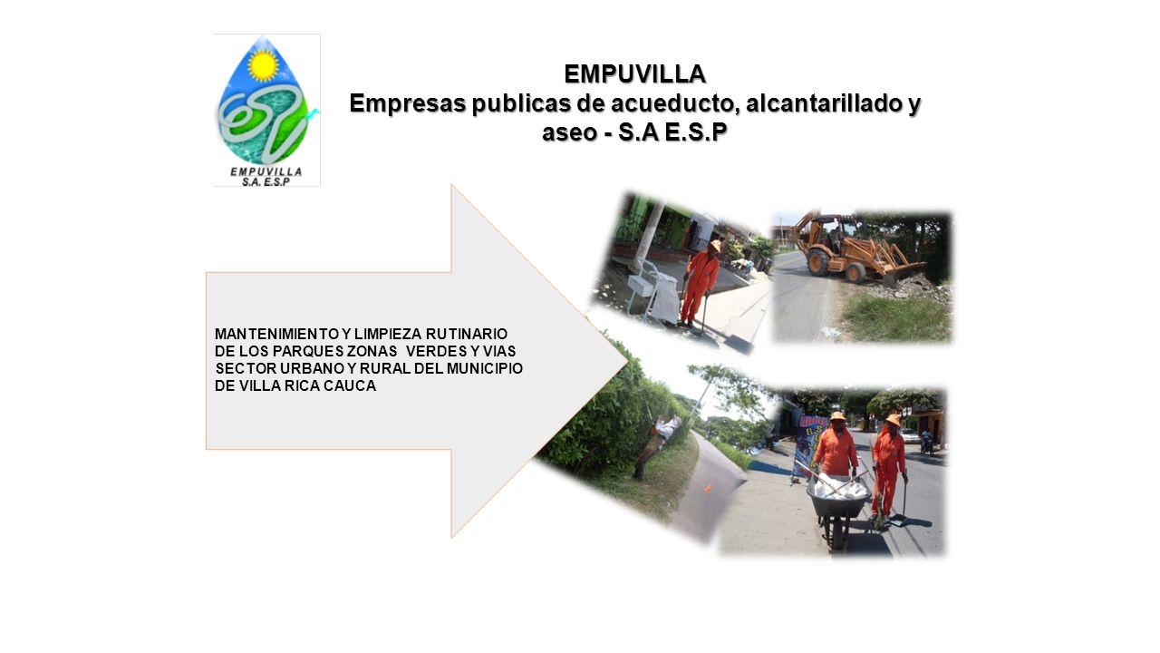Empresas publicas de acueducto, alcantarillado y aseo - S.A E.S.P