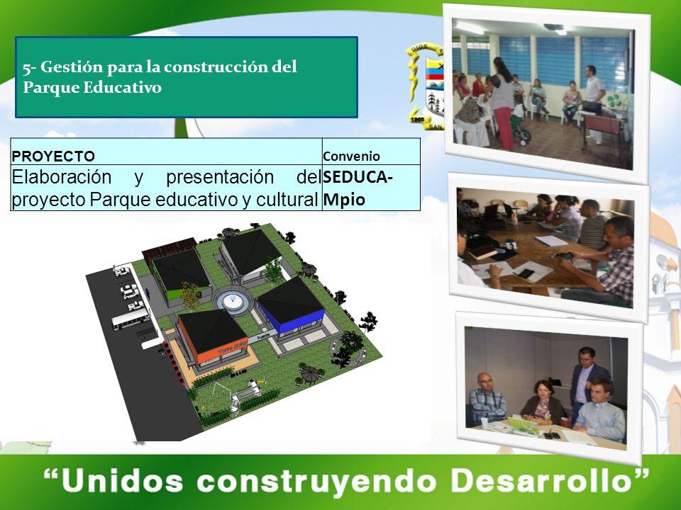 Elaboración y presentación del proyecto Parque educativo y cultural