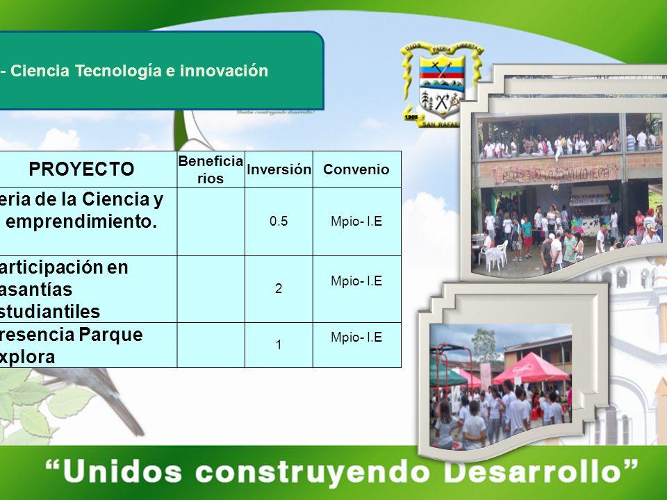 Feria de la Ciencia y el emprendimiento.
