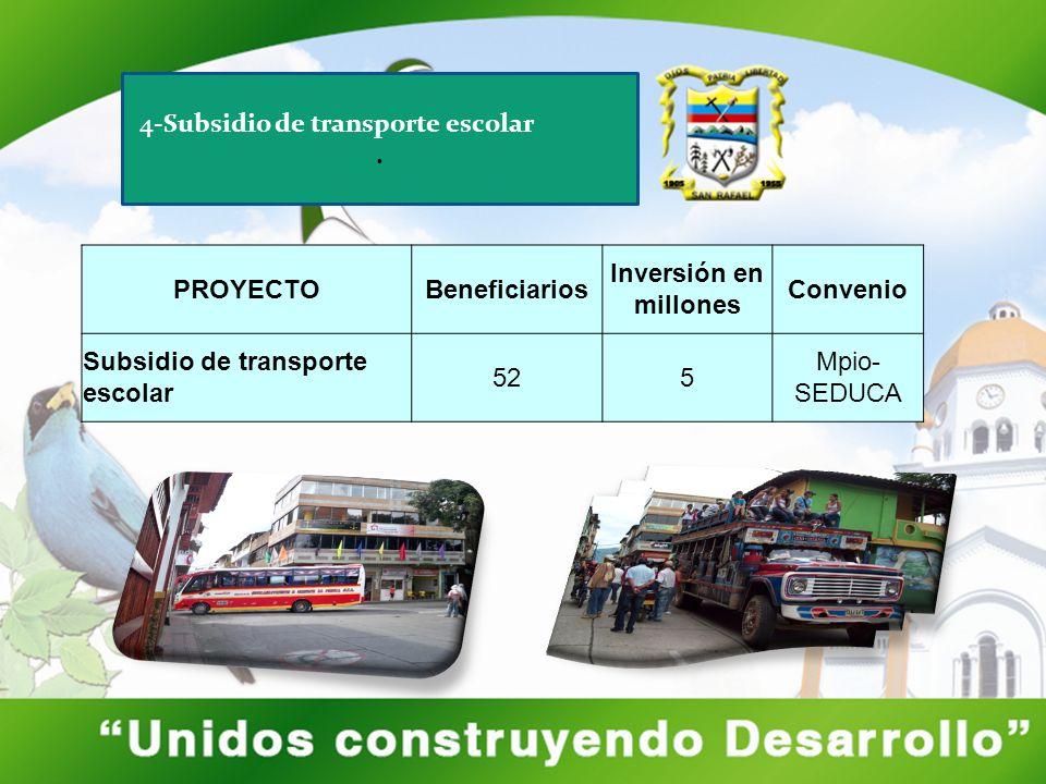 4-Subsidio de transporte escolar