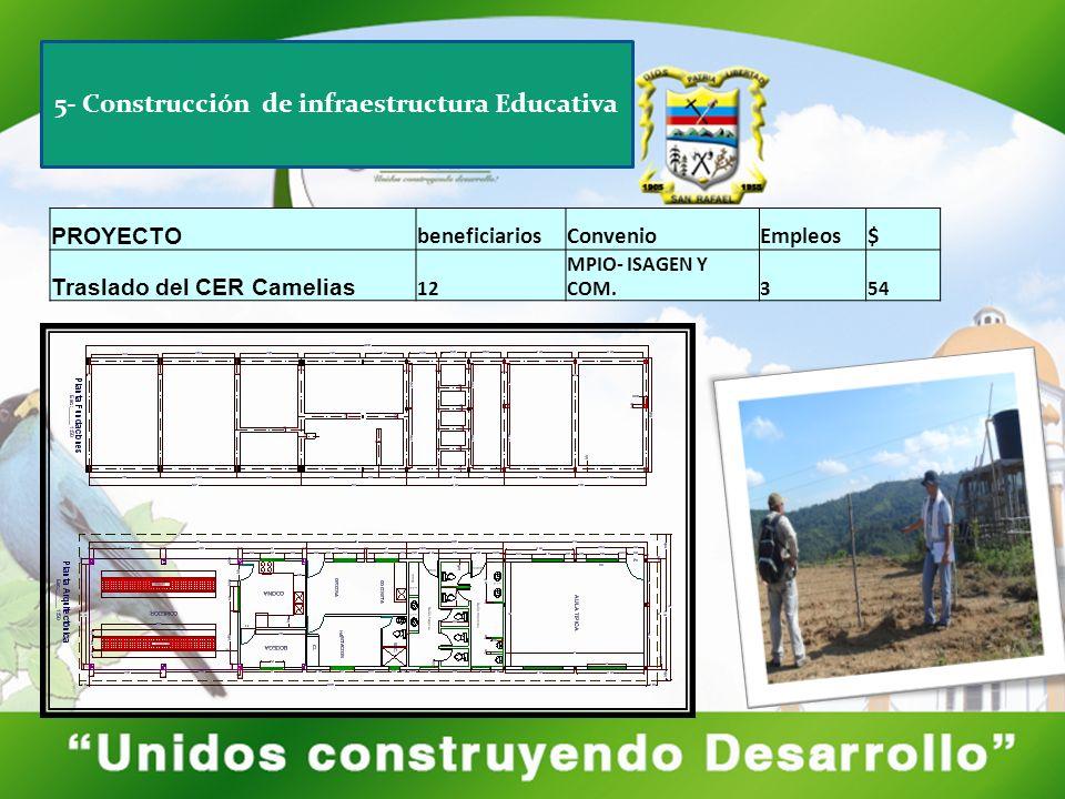 5- Construcción de infraestructura Educativa