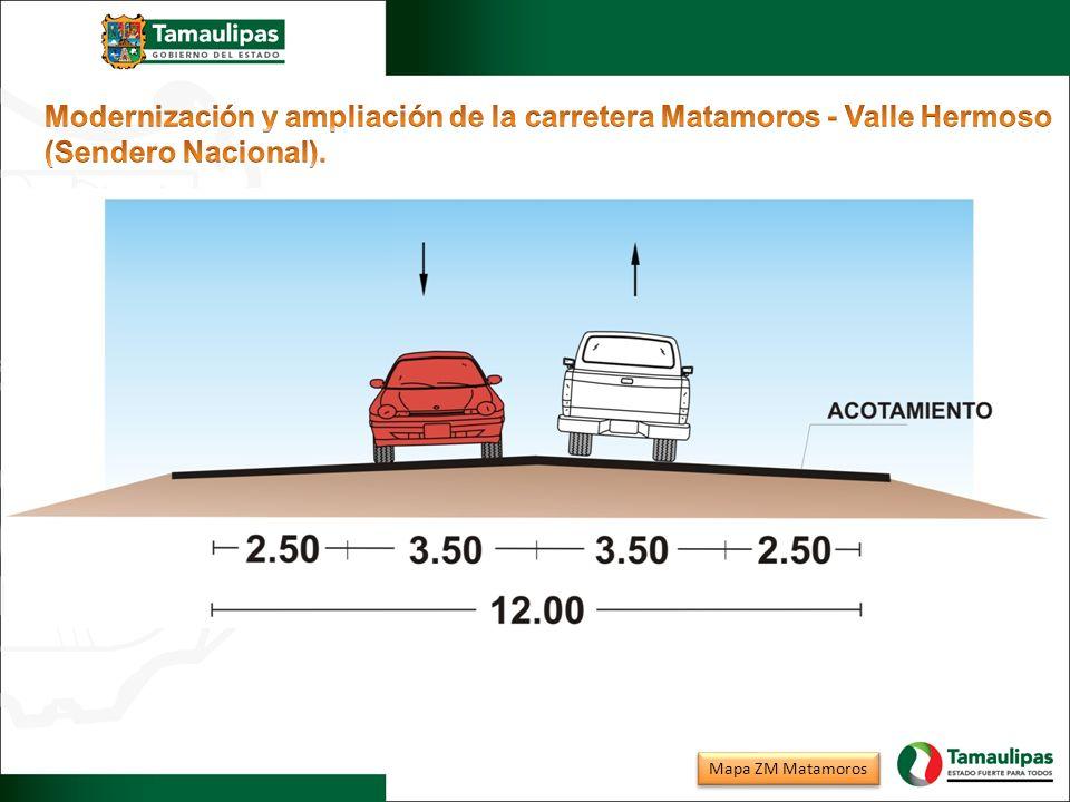 Modernización y ampliación de la carretera Matamoros - Valle Hermoso