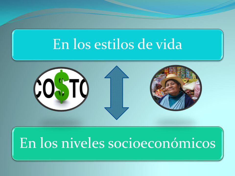 En los niveles socioeconómicos