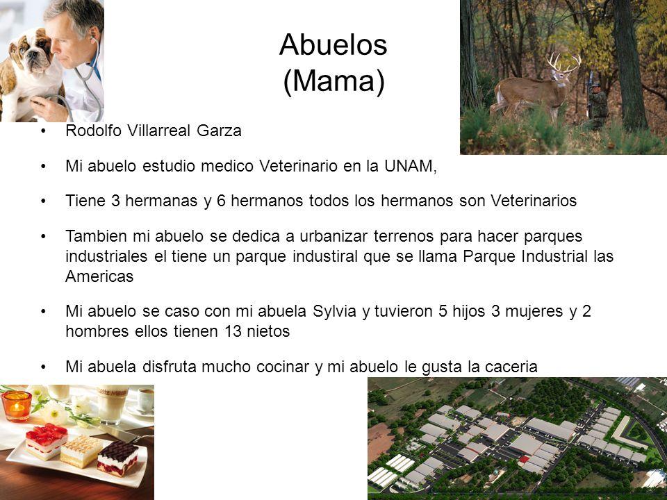 Abuelos (Mama) Rodolfo Villarreal Garza