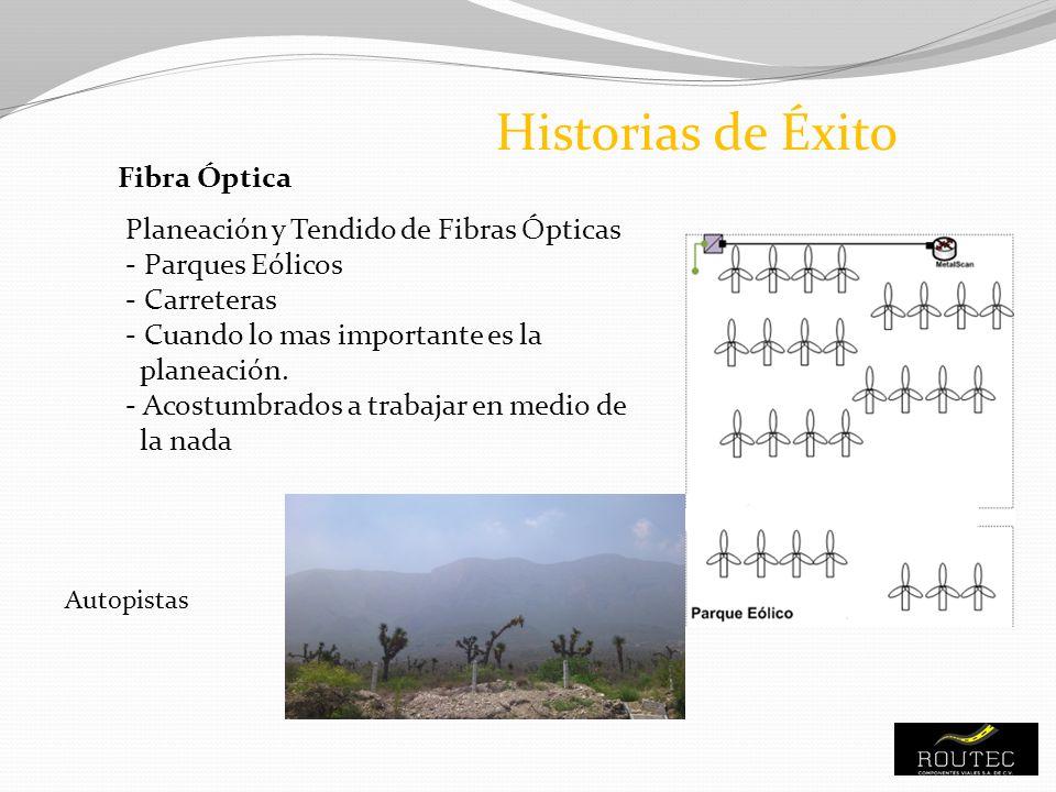 Historias de Éxito Fibra Óptica Planeación y Tendido de Fibras Ópticas