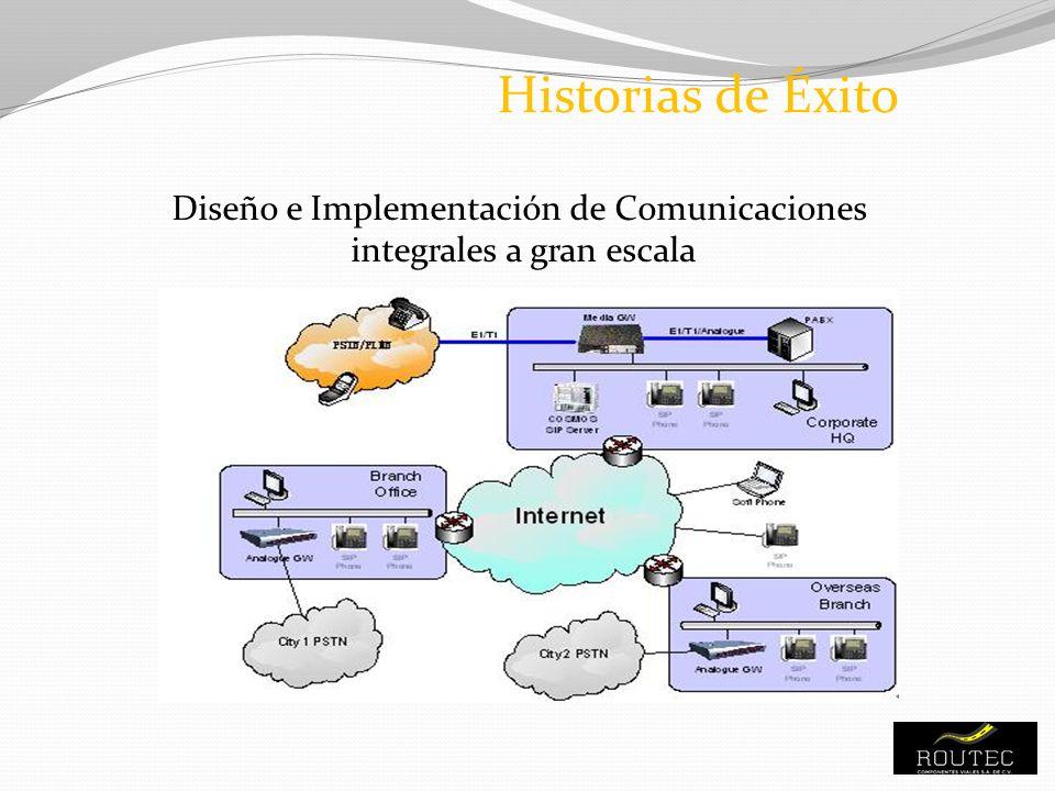 Historias de Éxito Diseño e Implementación de Comunicaciones