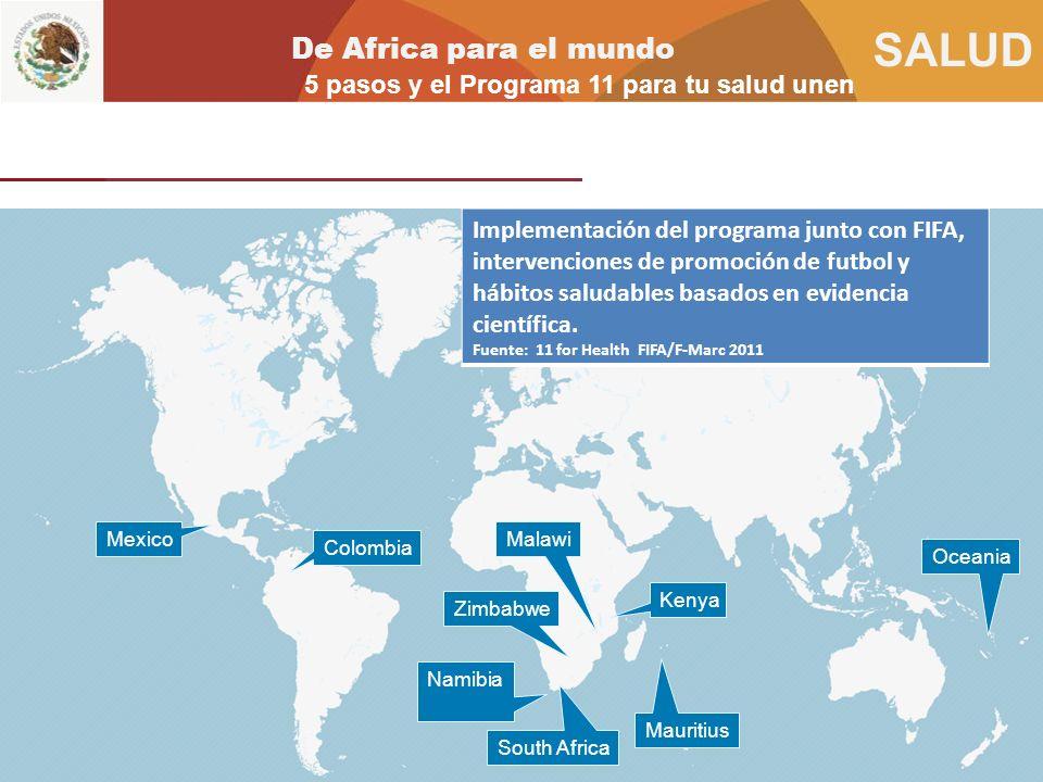 De Africa para el mundo 5 pasos y el Programa 11 para tu salud unen