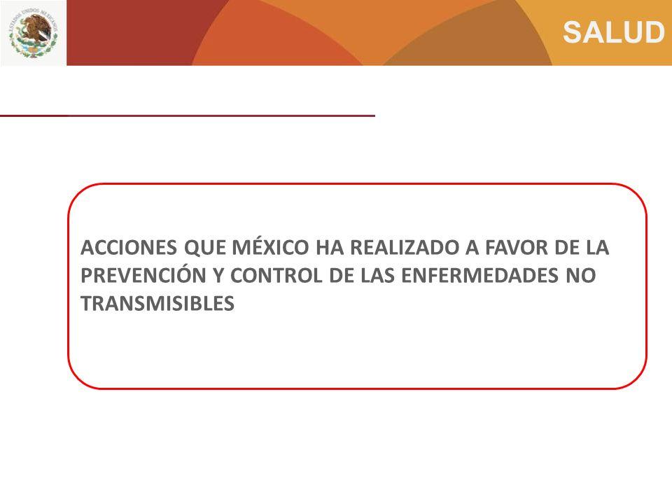 ACCIONES QUE MÉXICO HA REALIZADO A FAVOR DE LA PREVENCIÓN Y CONTROL DE LAS ENFERMEDADES NO TRANSMISIBLES