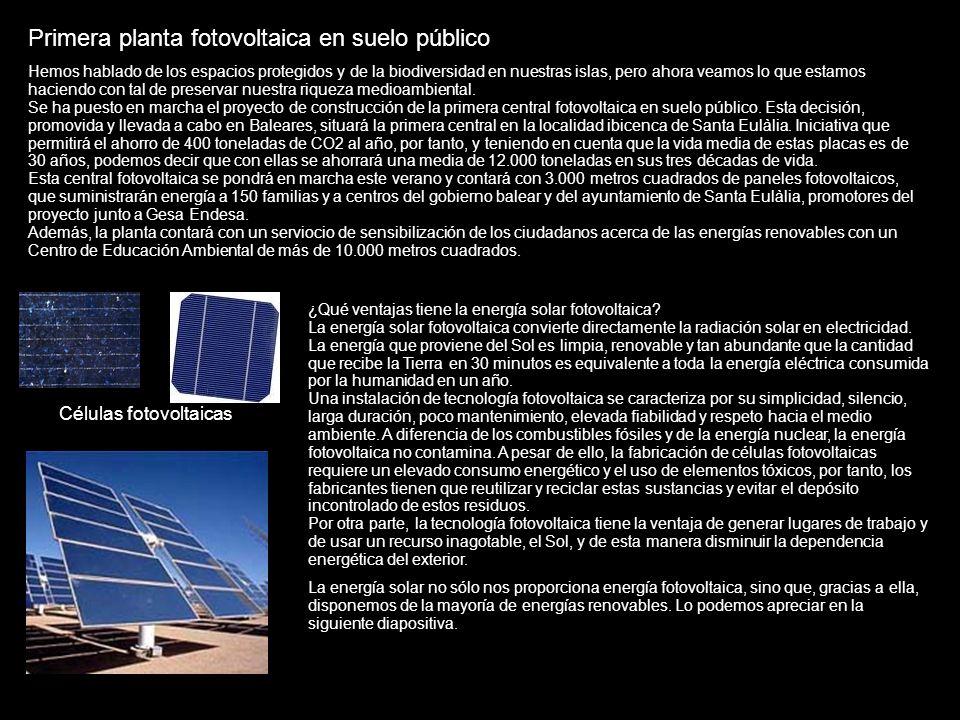 Primera planta fotovoltaica en suelo público