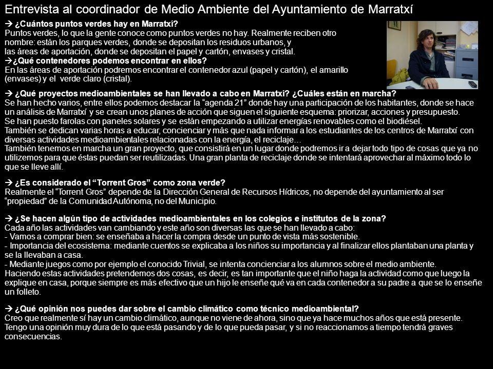 Entrevista al coordinador de Medio Ambiente del Ayuntamiento de Marratxí