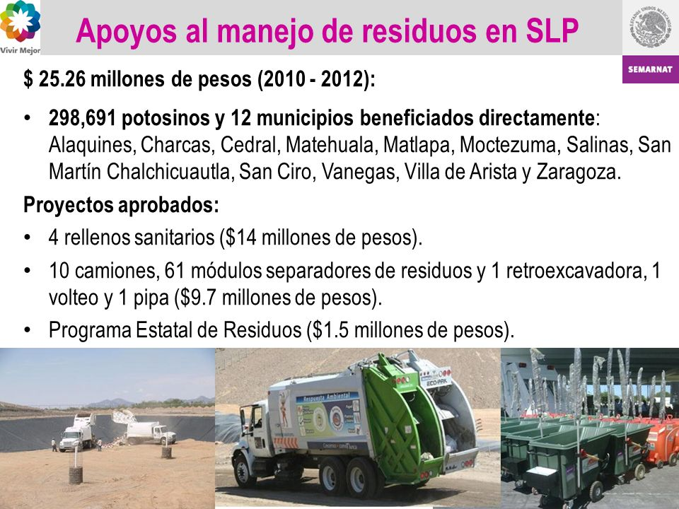 Apoyos al manejo de residuos en SLP