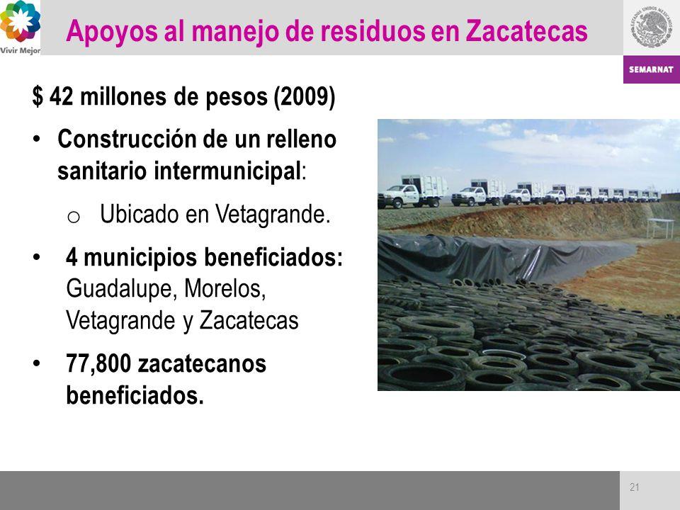 Apoyos al manejo de residuos en Zacatecas