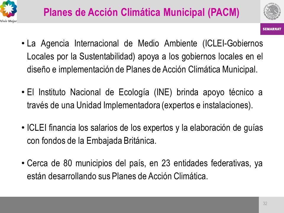 Planes de Acción Climática Municipal (PACM)