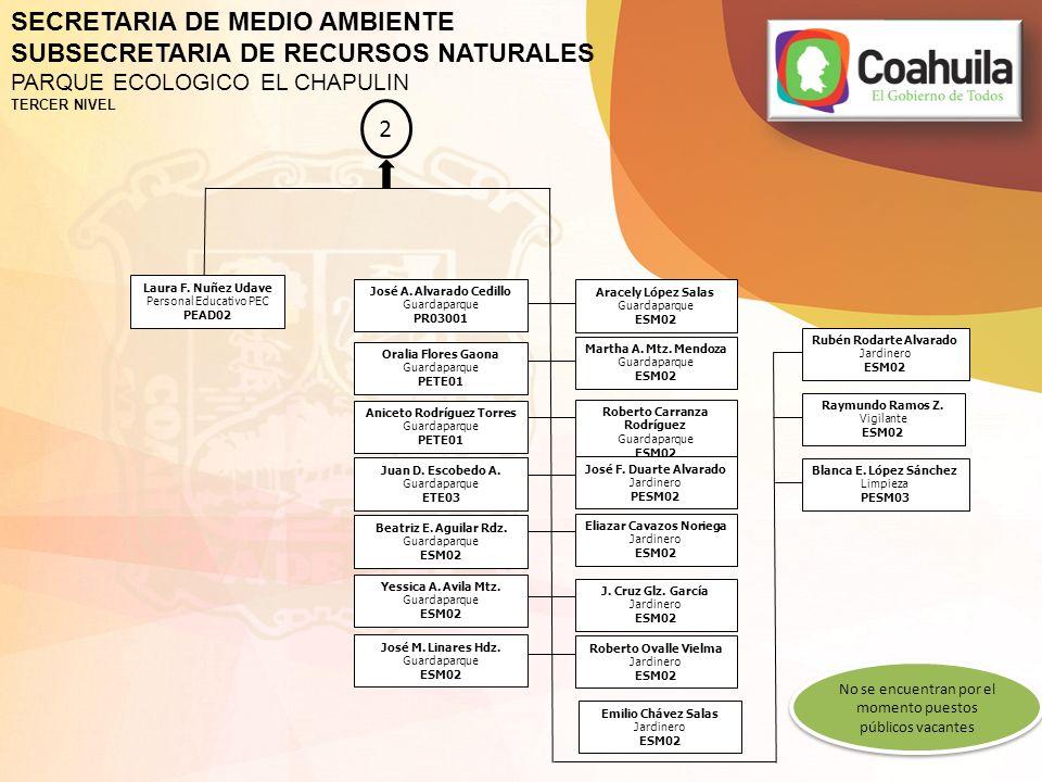 SECRETARIA DE MEDIO AMBIENTE SUBSECRETARIA DE RECURSOS NATURALES