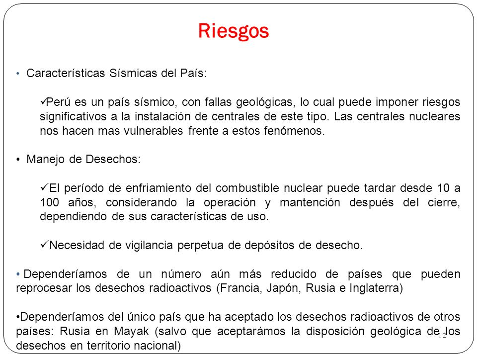 Riesgos Características Sísmicas del País:
