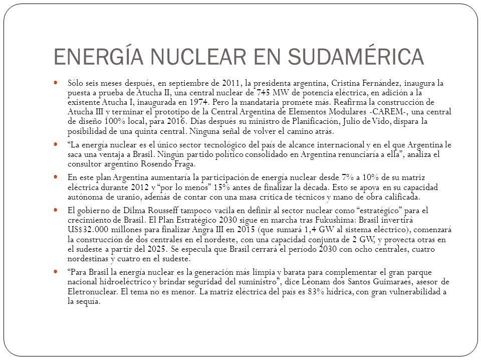 ENERGÍA NUCLEAR EN SUDAMÉRICA
