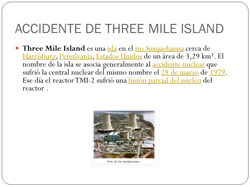 ACCIDENTE DE THREE MILE ISLAND