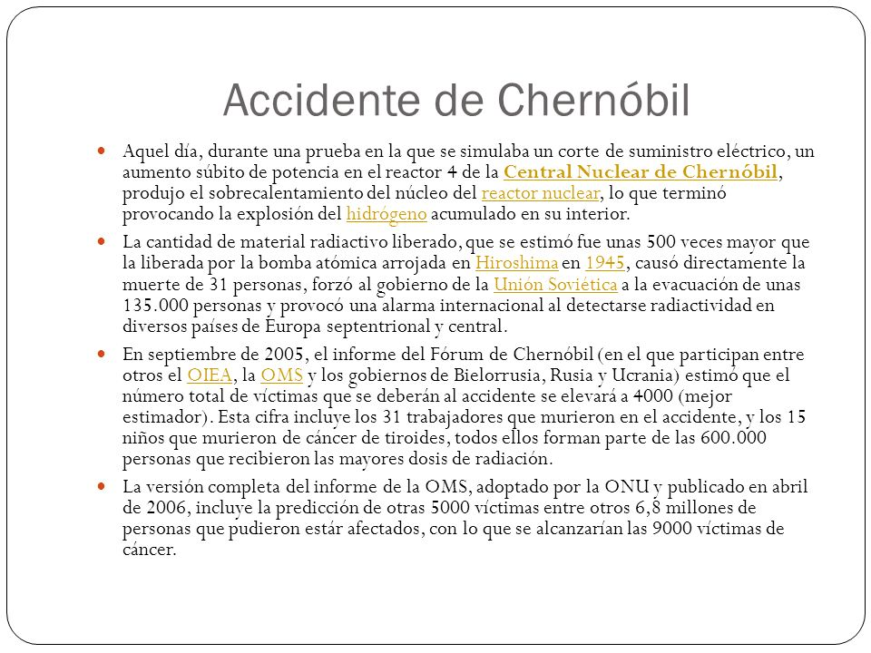 Accidente de Chernóbil