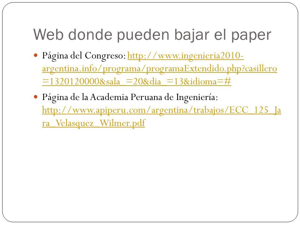 Web donde pueden bajar el paper