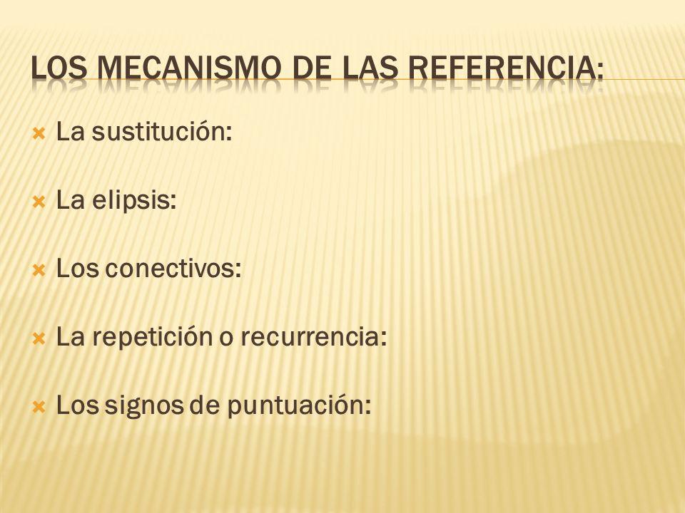Los mecanismo de las referencia: