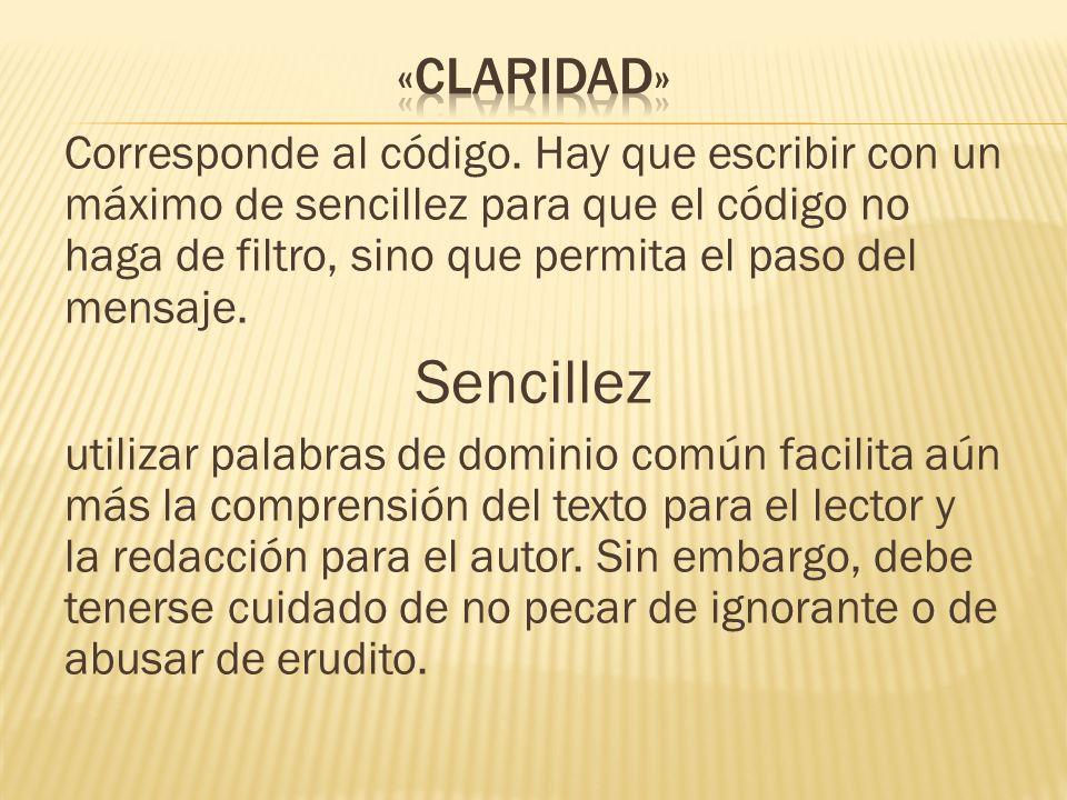 «claridad»