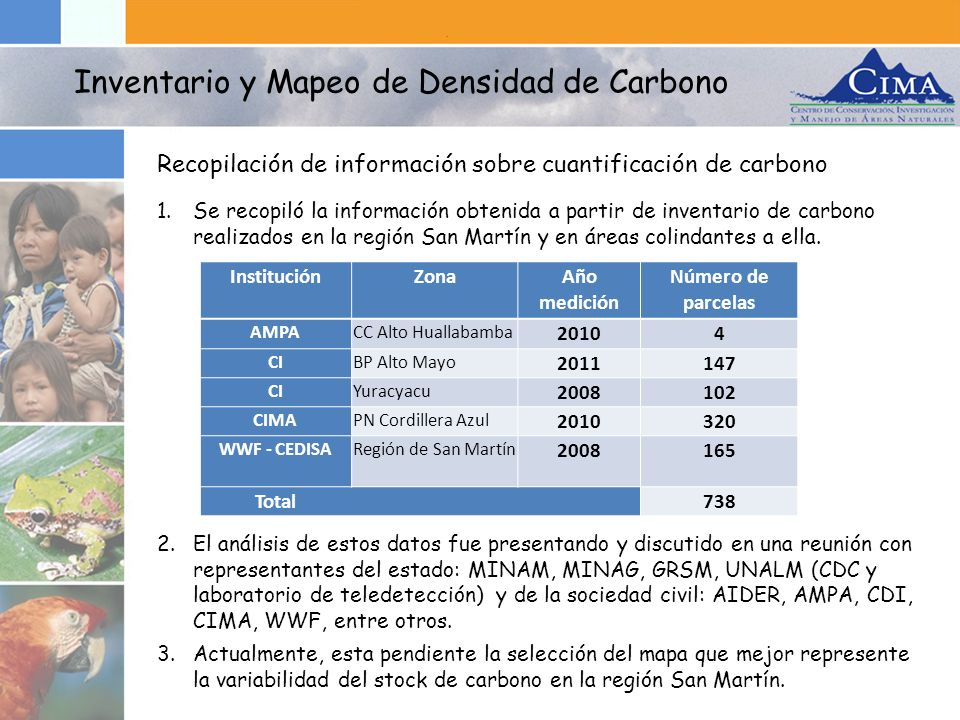 Inventario y Mapeo de Densidad de Carbono