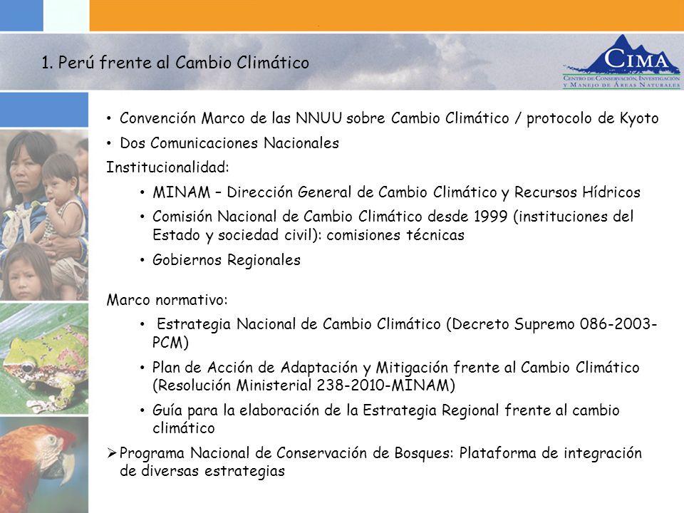 1. Perú frente al Cambio Climático