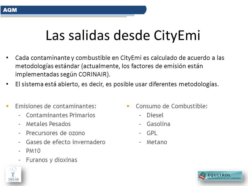 Las salidas desde CityEmi