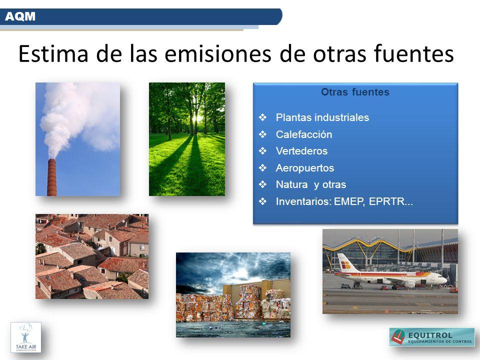 Estima de las emisiones de otras fuentes