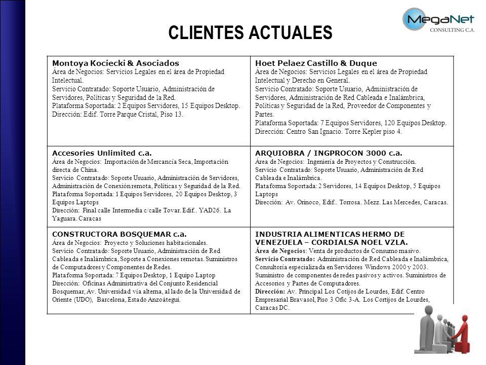 CLIENTES ACTUALES Montoya Kociecki & Asociados
