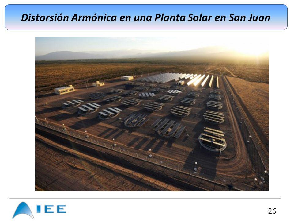 Distorsión Armónica en una Planta Solar en San Juan