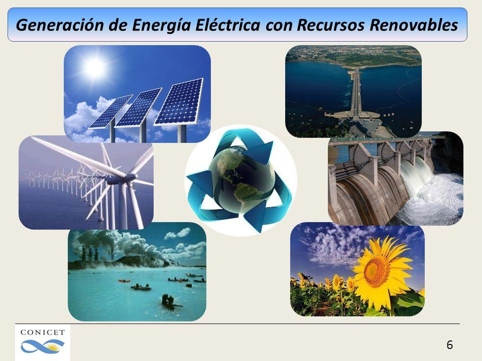 Generación de Energía Eléctrica con Recursos Renovables