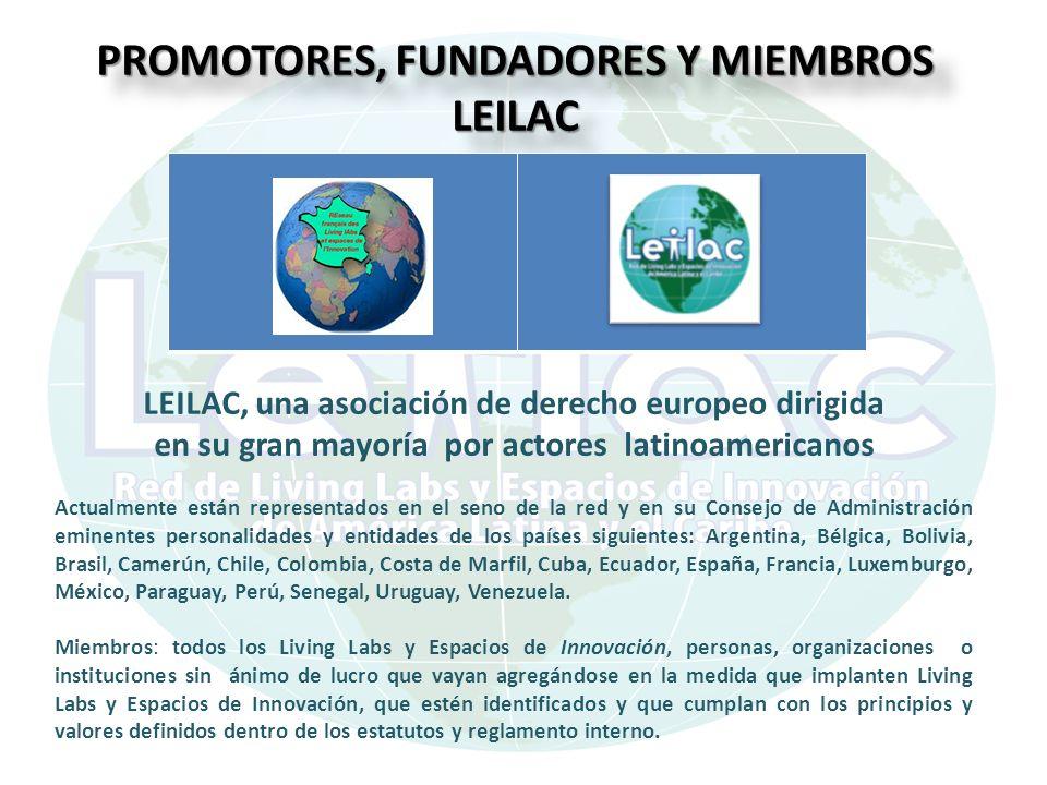 PROMOTORES, FUNDADORES Y MIEMBROS LEILAC