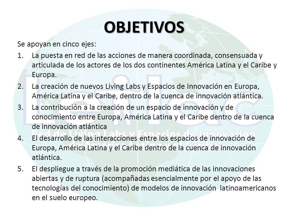 OBJETIVOS Se apoyan en cinco ejes: