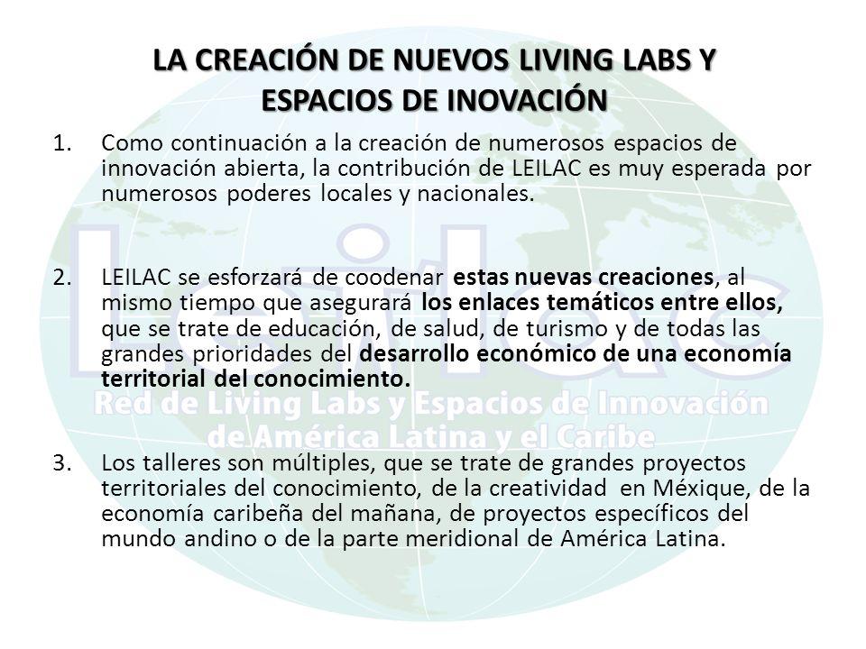 LA CREACIÓN DE NUEVOS LIVING LABS Y ESPACIOS DE INOVACIÓN