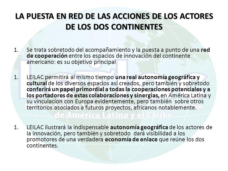 LA PUESTA EN RED DE LAS ACCIONES DE LOS ACTORES DE LOS DOS CONTINENTES